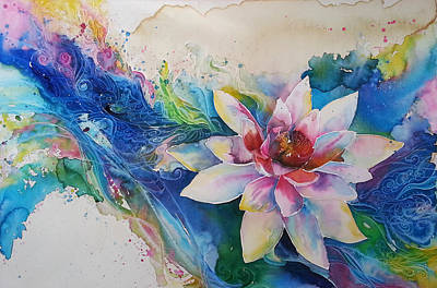 Lotus Flower Art Print by Christy  Freeman