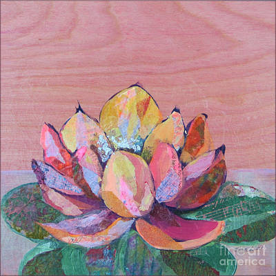 Succulent Painting - Lotus I by Shadia Derbyshire
