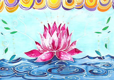 Inner World Painting - Lotus Lily by Cat Athena Louise
