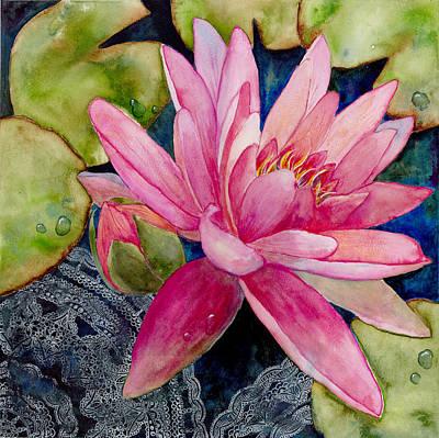 Lotus Bud Painting - Lotus Love by Susy Soulies