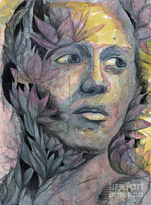 Mixed Media - Lotus Man by Michael Volpicelli