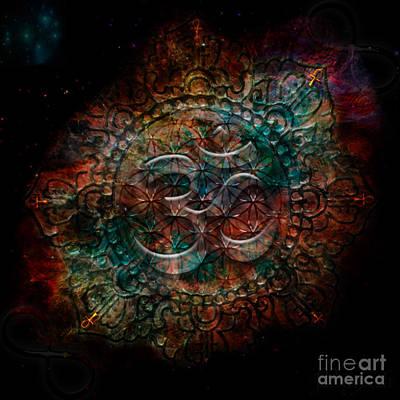 Digital Art - Lotus Om by Mynzah Osiris