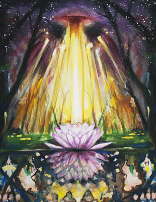 Lotus Omega Art Print by Christine  Webb