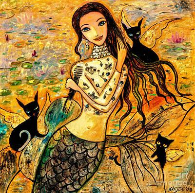 Lotus Pool Art Print by Shijun Munns