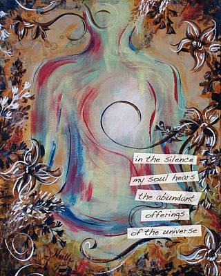 Yoga Pose Painting - Lotus Pose - Abundance by Noelle Rollins