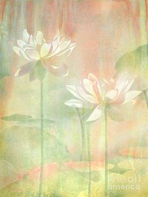 Rising Painting - Lotus by Robert Hooper