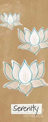 Flower Blooms Mixed Media - Lotus Serenity by Linda Woods