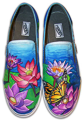 Lotus Shoes Art Print