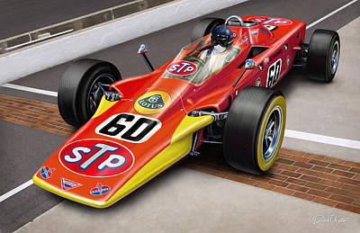 500 Digital Art - Lotus Stp Indy Turbine by David Kyte