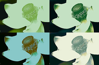 Photograph - Lotus Two By Two In Green by Fraida Gutovich