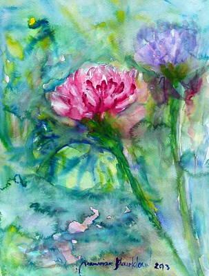 Lotus Art Print by Wanvisa Klawklean