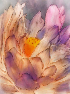 Digital Art - Lotus Watercolor by Jill Balsam