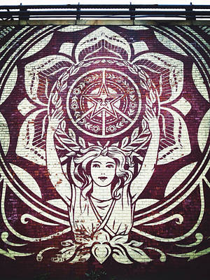 Obey Photograph - Lotus Woman Of Brooklyn by Natasha Marco