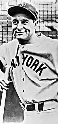 Lou Gehrig Photograph - Lou Gehrig by Florian Rodarte
