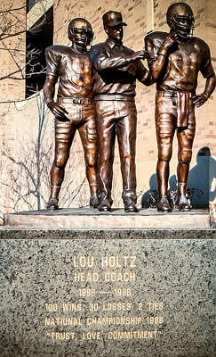 Photograph - Lou Holtz by Connie Dye