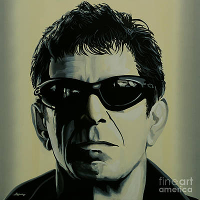 Monochrome Painting - Lou Reed Painting by Paul Meijering