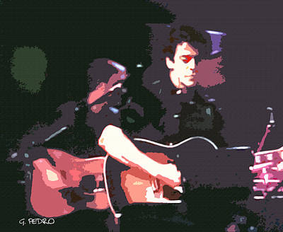 Painting - Lou Reed Performing by George Pedro