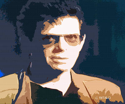 Painting - Lou Reed Rest In Peace by George Pedro