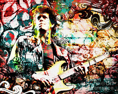 Reproduction Mixed Media - Lou Reed - Velvet Underground Original Painting Print by Ryan Rock Artist