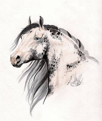 Horse Drawing - Loud Paint by Cheryl Poland