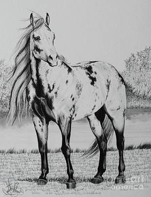 Wild Horses Drawing - Loud Paint Horses by Cheryl Poland