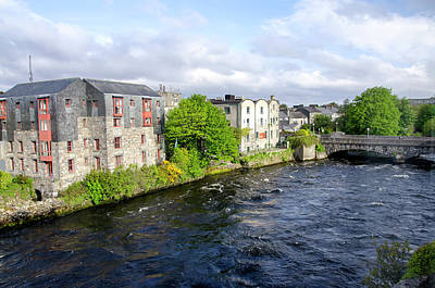 Cityscapes Photograph - Lough Corrib Galway City Ireland by M Timothy O'keefe