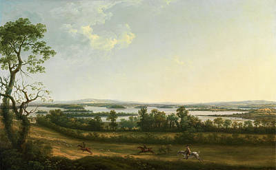 Lough Erne From Knock Ninney, With Bellisle In The Distance Art Print