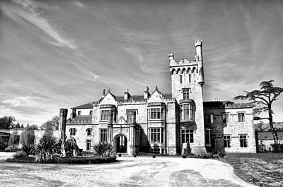 Donegal Photograph - Lough Eske Castle In Black And White - Donegal Ireland by Bill Cannon