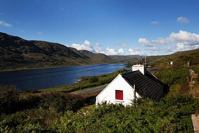 Country Cottage Photograph - Lough Nafooey, Shot From The County by Panoramic Images