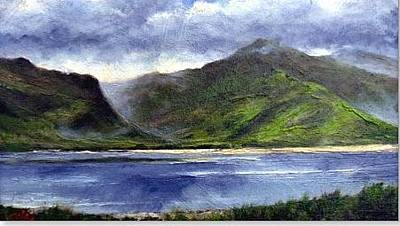 Mountain Wall Art - Painting - Loughros Bay Ireland by Jim Gola