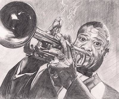 Drawing - Louie Armstrong by Beverly Marshall