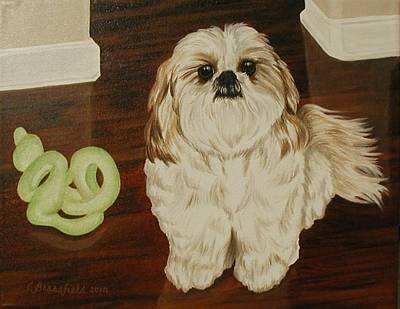 Painting - Louie by Cynthia Brassfield