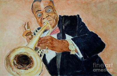 Painting - Louis Armstrong 1 by Katie Spicuzza
