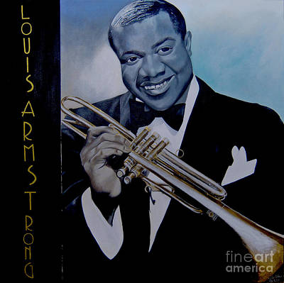 Louis Armstrong Art Print by Chelle Brantley