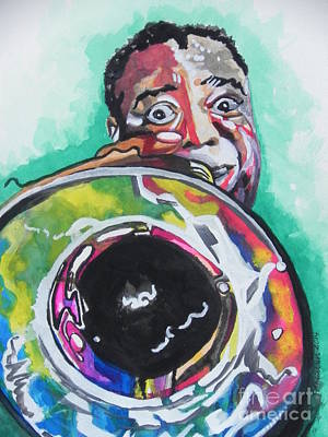 Music Paintings - Louis Armstrong by Chrisann Ellis