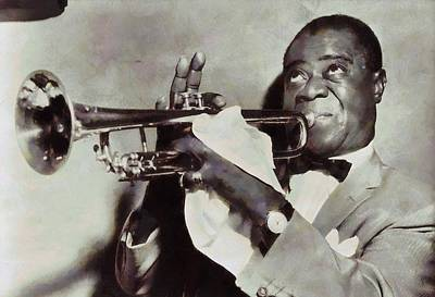 Trumpet Mixed Media - Louis Armstrong by Dan Sproul