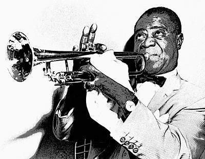 Trumpet Digital Art - Louis Armstrong by Daniel Hagerman
