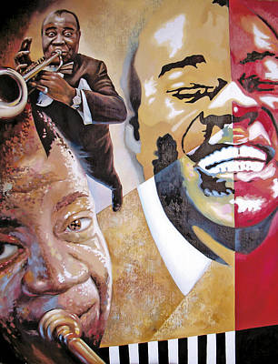 Art Print featuring the painting Louis Armstrong by Dmitry Spiros