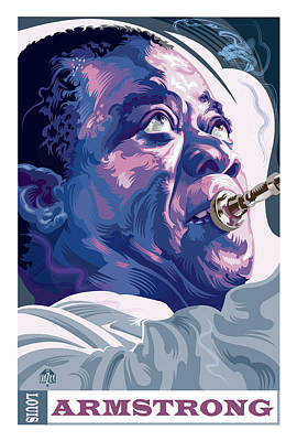 Jazz Royalty Free Images - Louis Armstrong Portrait Royalty-Free Image by Garth Glazier