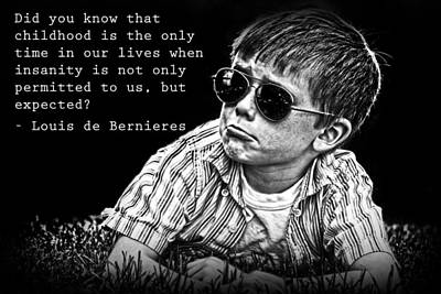 Photograph - Louis De Bernieres On Childhood by Kelly Hazel