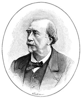 Louis Figuier Print by Science Photo Library