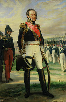 Louis-gabriel Suchet 1770-1826 Duke Of Albufera And Marshal Of France  Oil On Canvas Art Print by Frederic Legrip