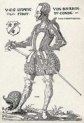 Louis I De Bourbon 1st Prince De Conde Art Print by Mary Evans Picture Library