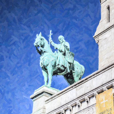 Sacre Coeur Digital Art - Louis Ix by Liz Leyden