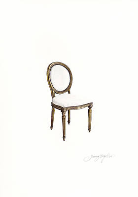Painting - Louis Style Chair by Jazmin Angeles