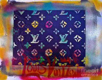 Shop Hip Hop Painting - Louis Vuitton Abstract Street Art by Tony B Conscious