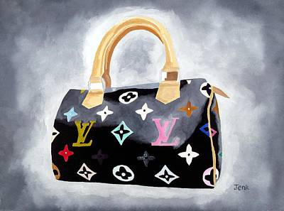 Handbag Painting - Louis Vuitton Study II by Rebecca Jenkins