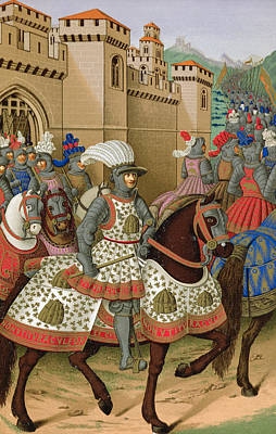 Louis Xii Leaving Alexandria Art Print by Jean Marot