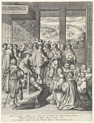 Louis Xiii Receives A Delegation Of Merchants From Paris Art Print by Quint Lox