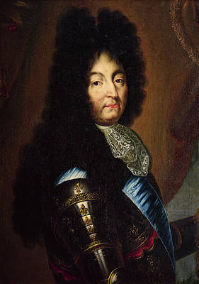 Louis Xiv 1638-1715 Oil On Canvas Print by Hyacinthe Francois Rigaud